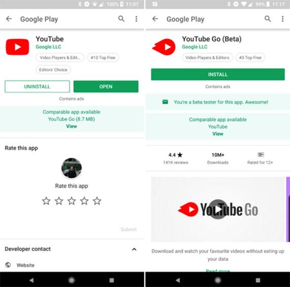 Android Go εφαρμογές