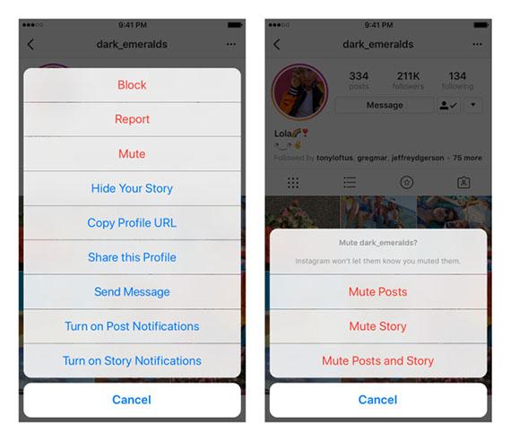 Το Instagram εισάγει τη λειτουργία Mute στους λογαριασμούς