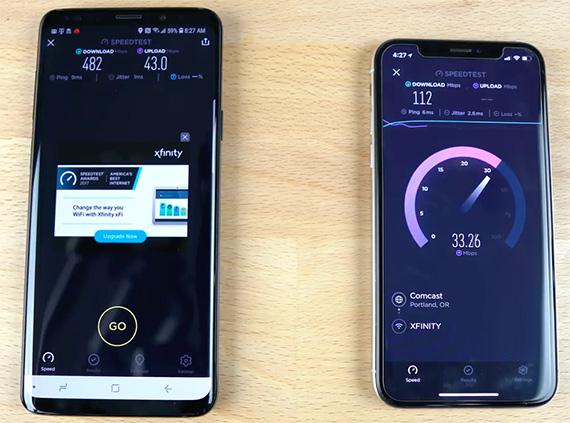 iphonex s9 ookla