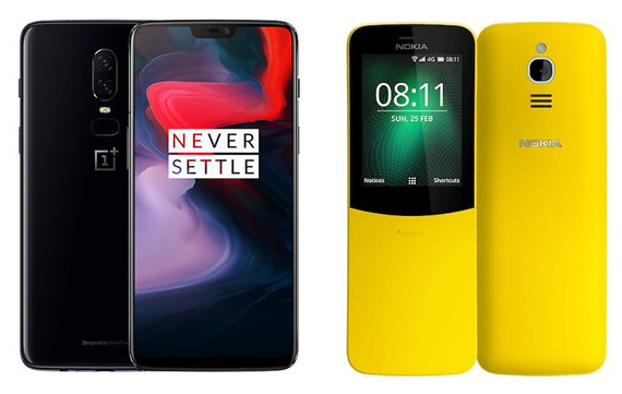 OnePlus 6 vs Nokia 8110 4G banana poll
