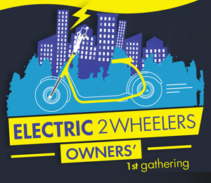1st Electric 2 wheelers owners Athens Gathering