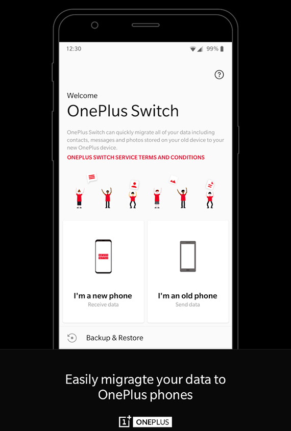 OnePlus Switch για εύκολη μεταφορά δεδομένων από άλλα Android smartphone σε κάποιο της OnePlus
