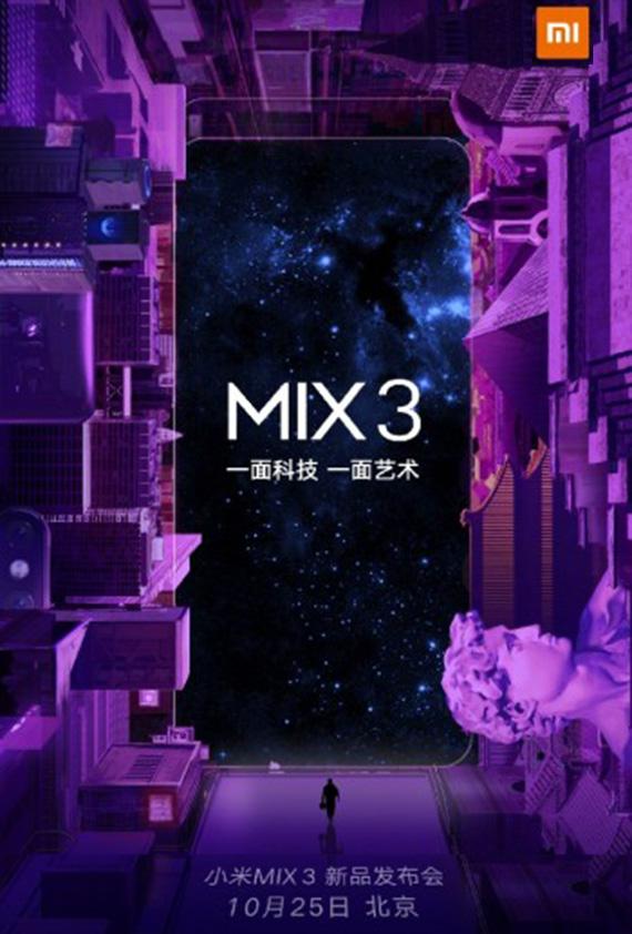 xiaomi mimix3 25oct