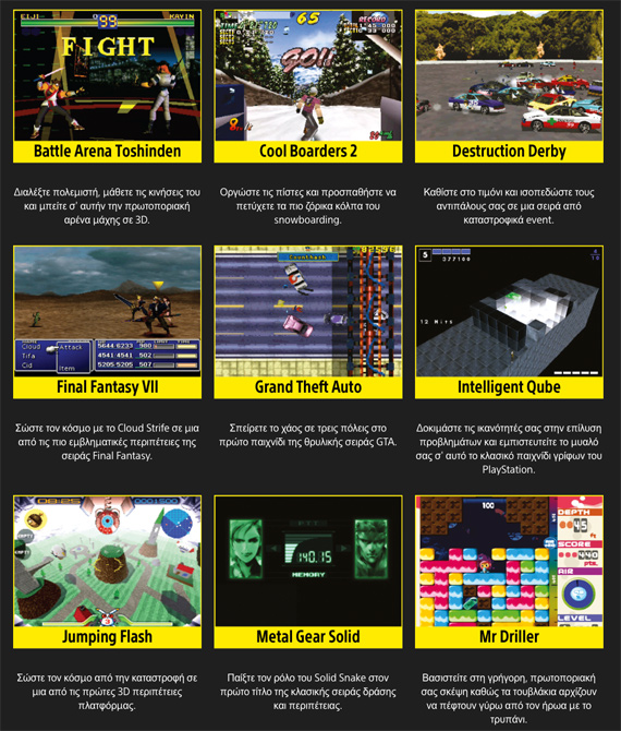 PlayStation Classic games-