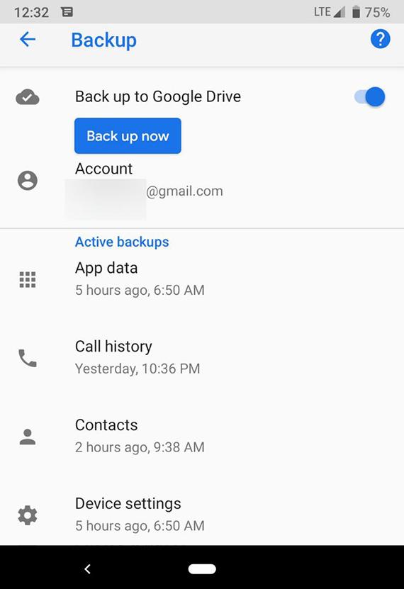 google drive manual backup