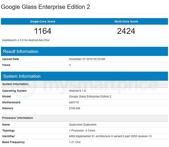 google glass2geekbench