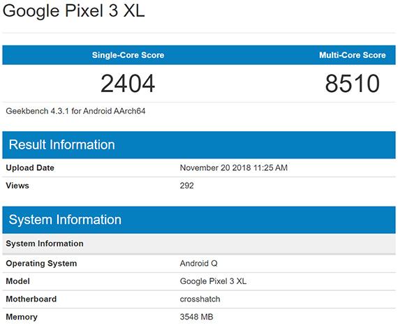 pixel3xl androidQ