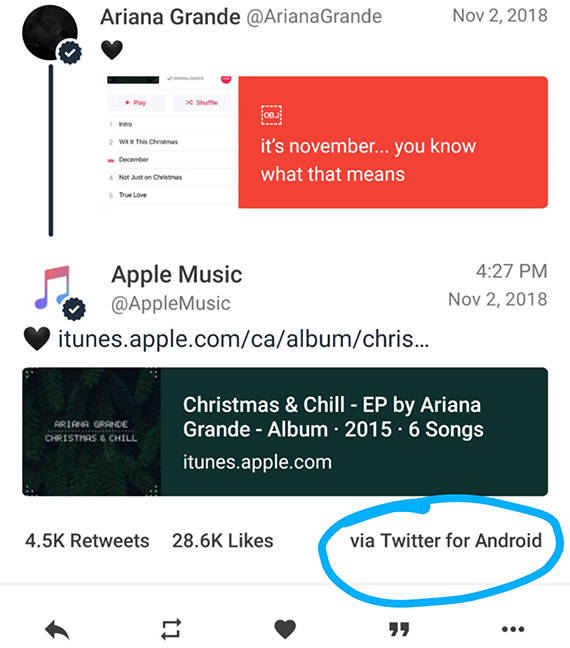 applemusic tweets android