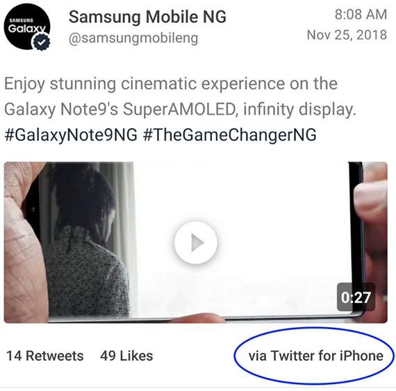 samsung nigeria tweet