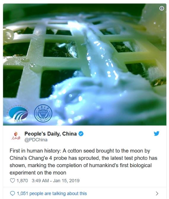 China tweet plants on the moon 570px