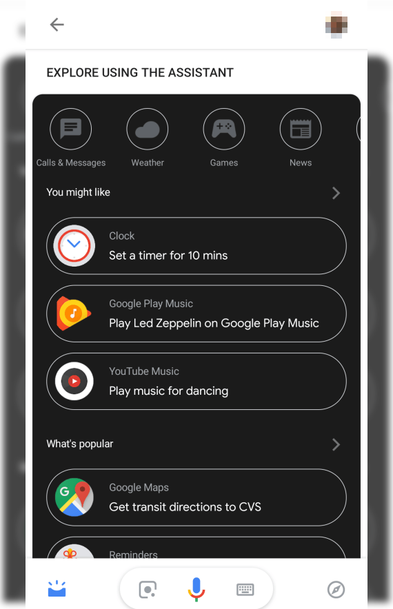 Google Assistant Dark Mode 000