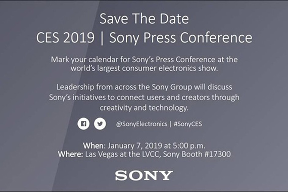 sony event ces2019