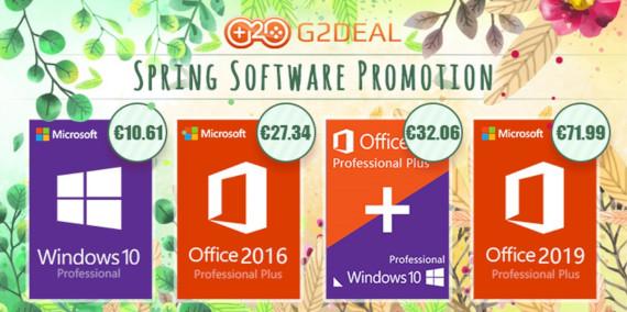 G2Deal Spring Sale: Προσφορές για Windows Pro, Office 2016 Pro και άλλα