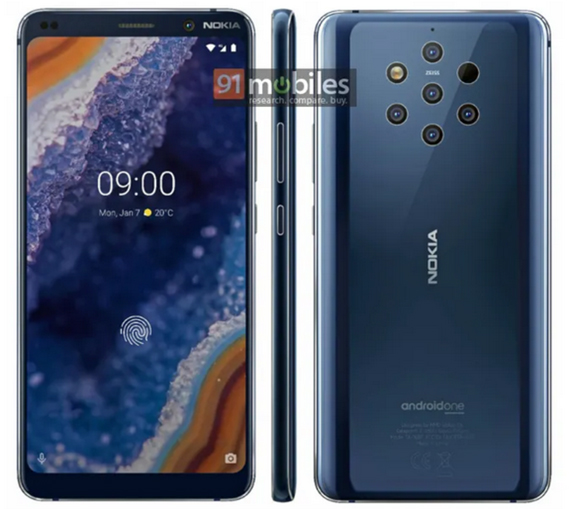 Nokia 9 PureView press render