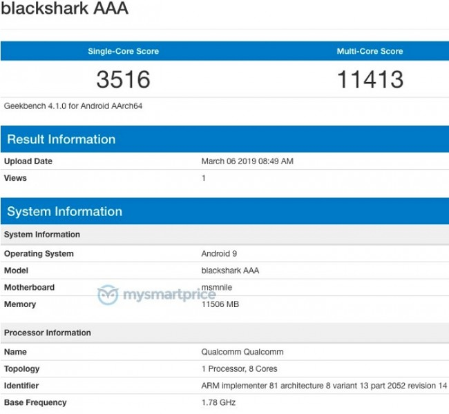 Black Shark 2: Gaming smartphone Snapdragon 855 και 12GB RAM;