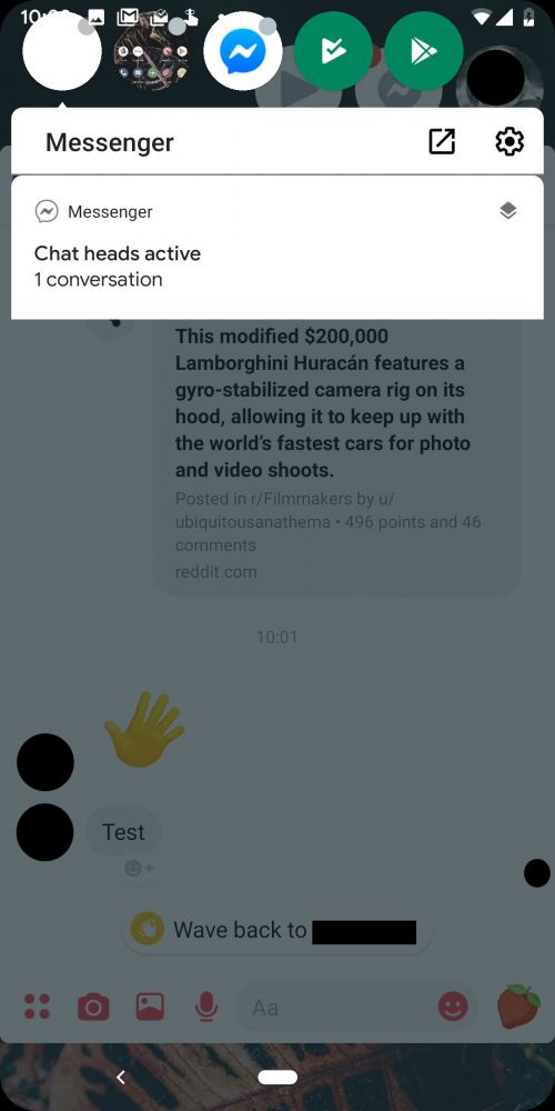 Android Q: Θα χρησιμοποιεί σε όλες τις εφαρμογές τις φούσκες συνομιλιών του Facebook