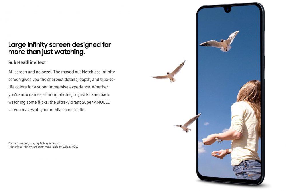 Το Samsung Galaxy A90 θα έχει οθόνη χωρίς bezels