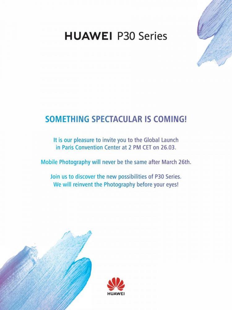 Huawei P30 invitation
