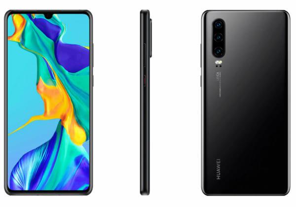 Huawei P30: Διέρρευσαν επίσημα renders, με τη συσκευή σε μαύρο χρώμα