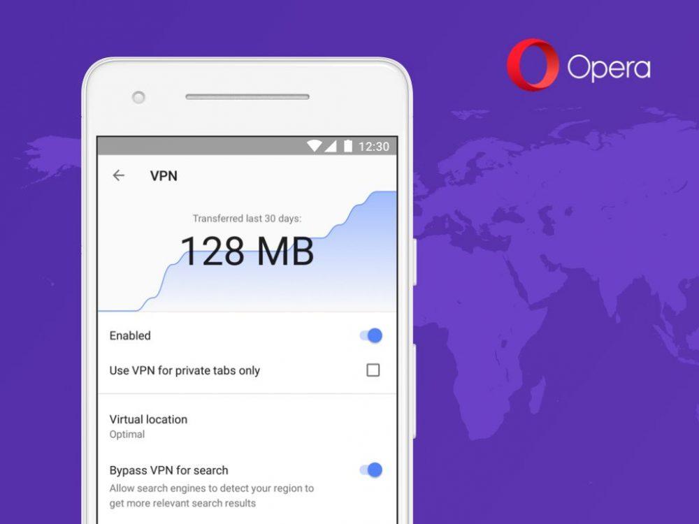 Opera 51: Επαναφέρει την υπηρεσία VPN ως εργαλείο στο Android app