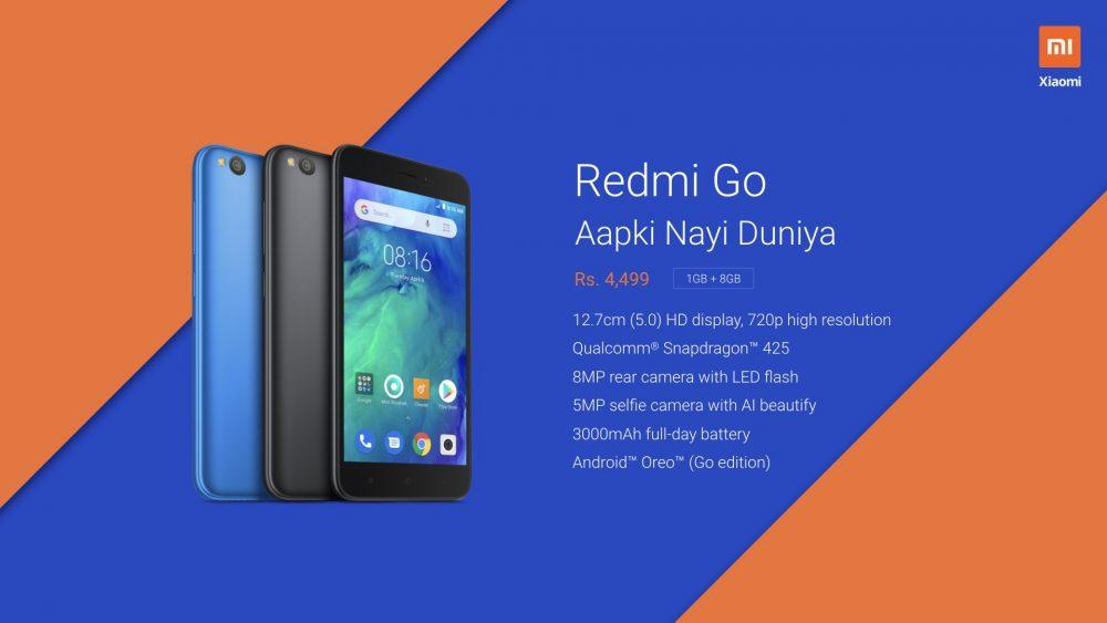 Xiaomi Redmi Go: Snapdragon 425, 1 GB RAM,  8GB ROM και τιμή 57 ευρώ