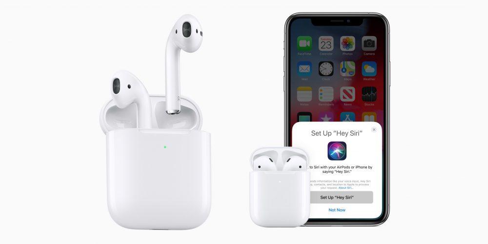 Νέα Apple Airpods με H1 chip, θήκη ασύρματη  φόρτισης και Hey Siri