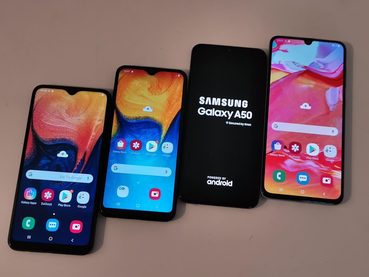 Τιμή και κυκλοφορία στην Ελλάδα όλων των νέων Galaxy A smartphones: A10, A20e, A40, A50, A70, A80