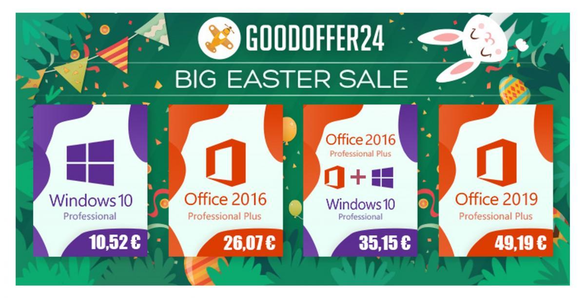 GoodOffer24: Μεγάλες Πασχαλινές προσφορές σε λογισμικό Microsoft