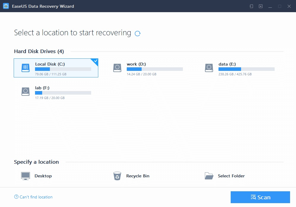 EaseUS Data Recovery Wizard: Το πιο εύχρηστο πρόγραμμα ανάκτησης διαγραμμένων αρχείων