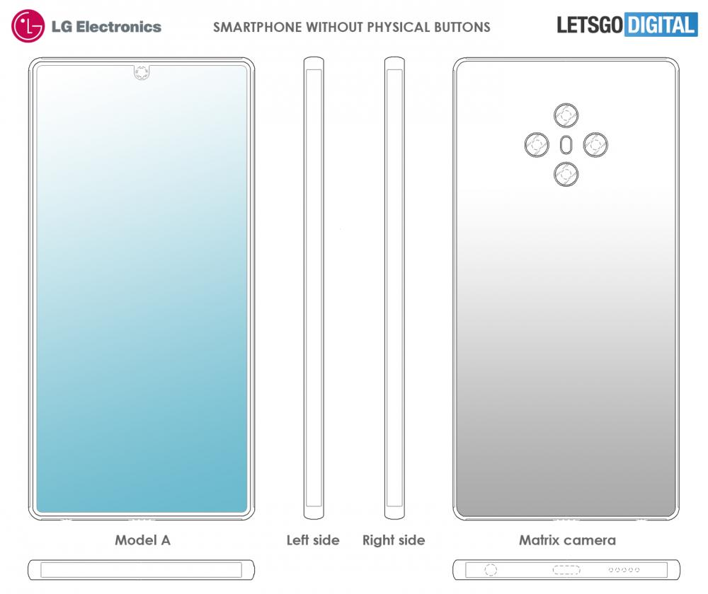 LG buttonless smartphone