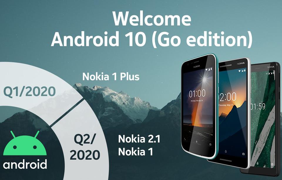 Nokia 1, 1, Plus 2.1 Android 10 Go Edition