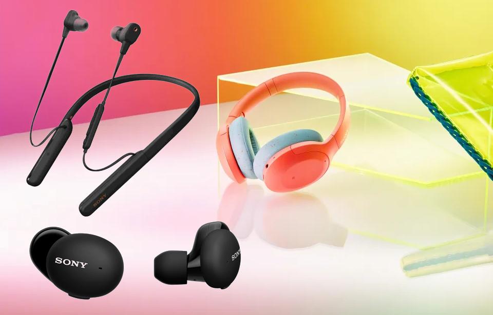 Sony Wireless Headphones IFA 2019 Sony WI-1000XM2, Sony WF-H800 και Sony WH-H910N.