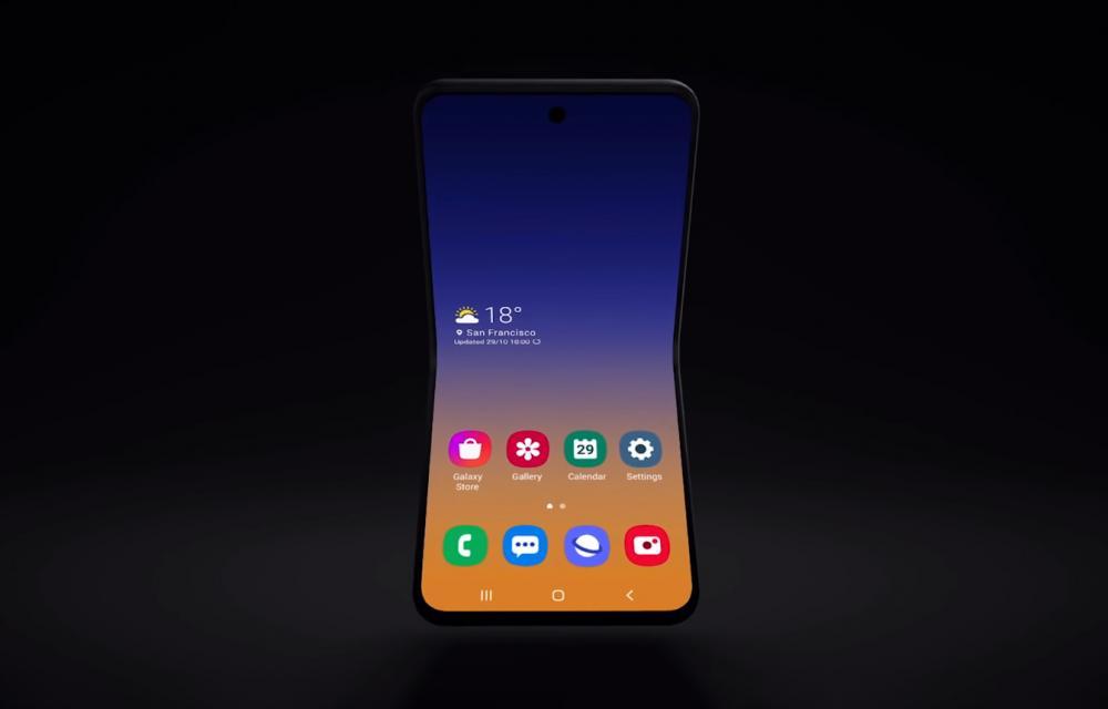 Samsung clamshell foldable smartphone teaser