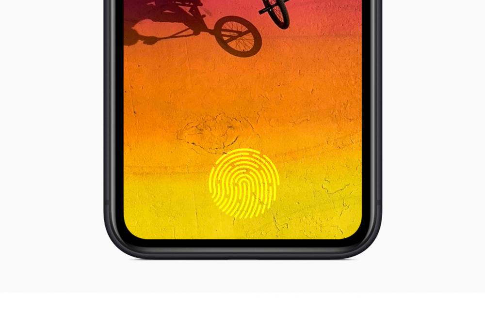 Apple in-display Touch ID iPhone and Apple Watch
