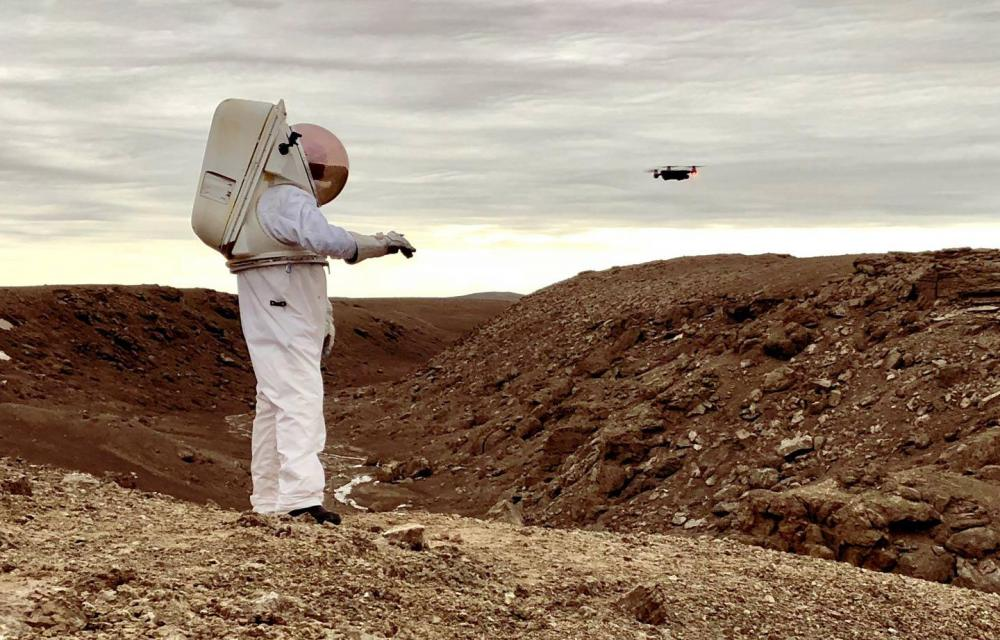 NASA and SETI Austronaut Smart Glove Control Drone