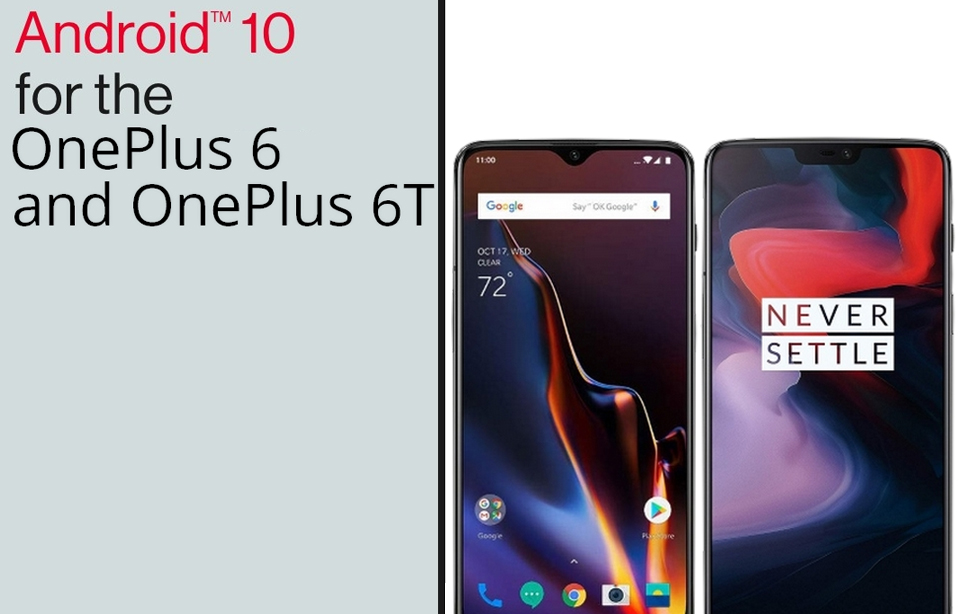 OnePlus 6 6T Final OxygenOS 10 Android 10 Version