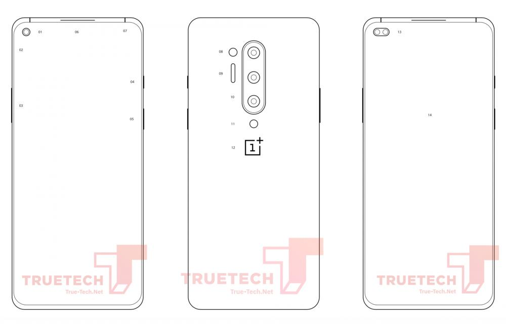 OnePlus 8 Diagram