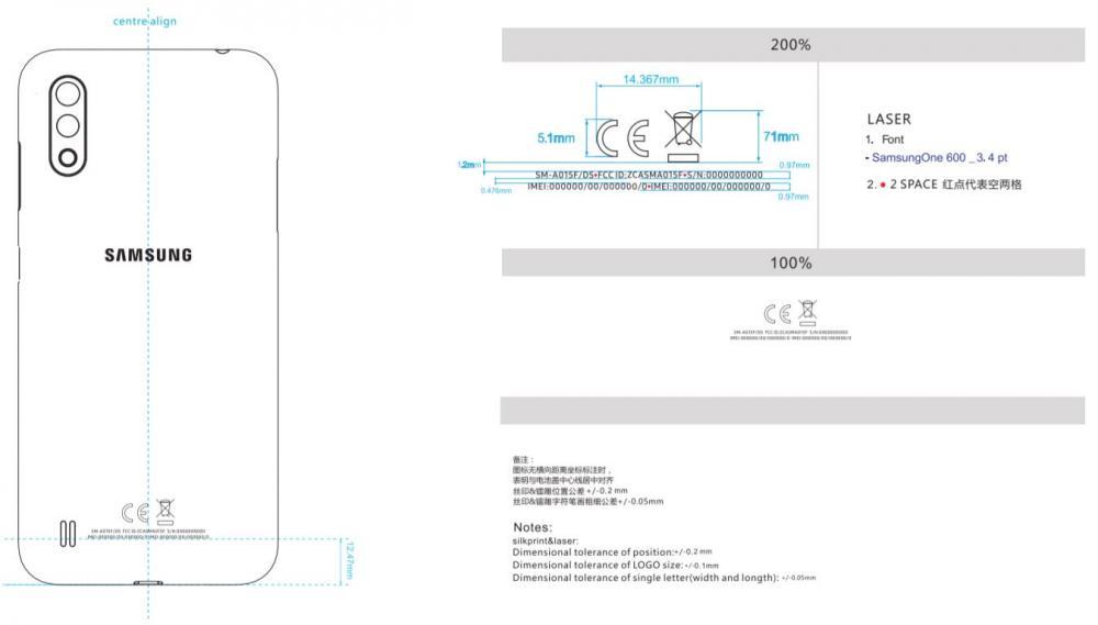 Samsung Galaxy A01 Geekbench FCC