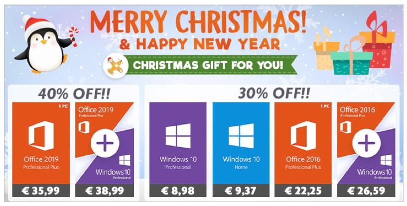 Χριστουγεννιάτικες εκπτώσεις GoodOffer24 με 40% σε Office 2019 και Windows 10