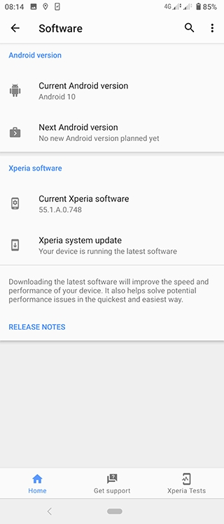 Sony Xperia 1 and 5 Get Android 10