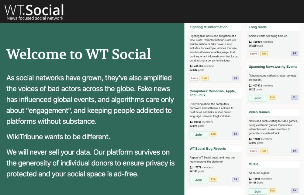 WT.Social News Social Network