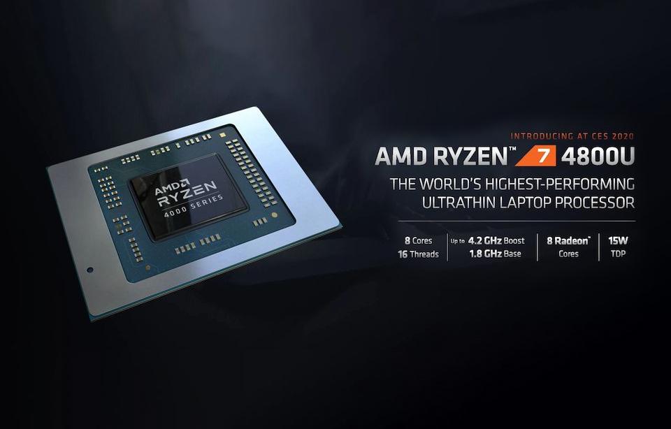 AMD Ryzen 7 4800U CES 2020