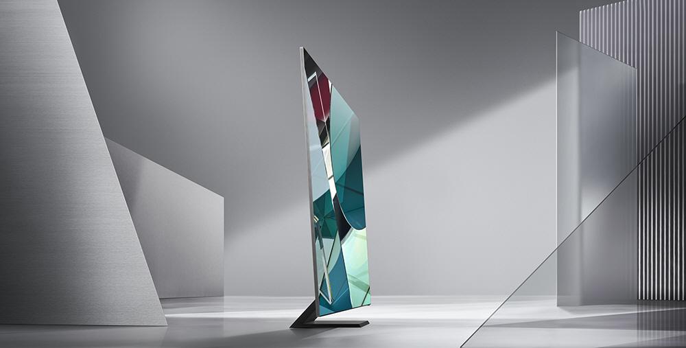 Samsung Q950TS zero bezels tv 8k CES 2020