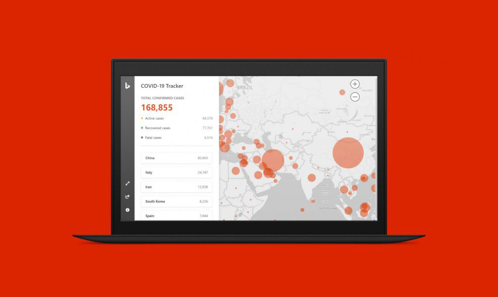 Microsoft Bing: Μάθε την εξέλιξη του κορονοϊού ανά χώρα σε πραγματικό χρόνο