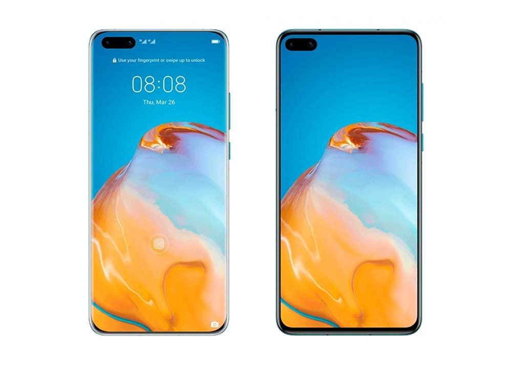 Huawei P40 και P40 Pro: Νέες φωτογραφίες δείχνουν το front panel