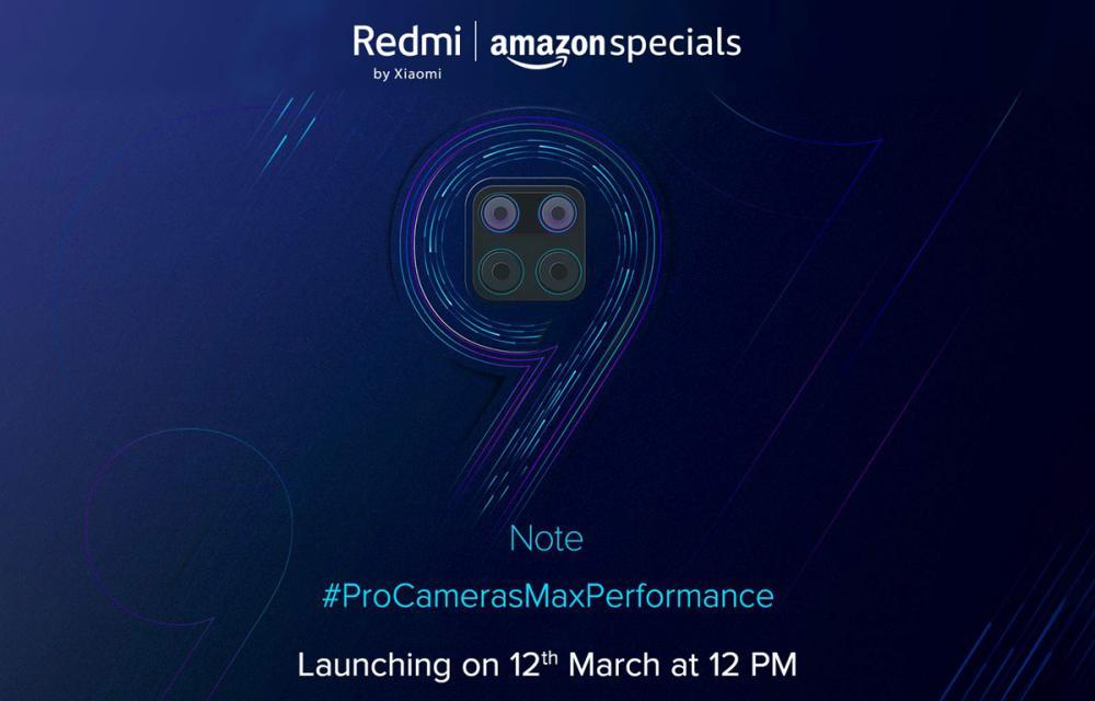 Redmi Note 9 12 March