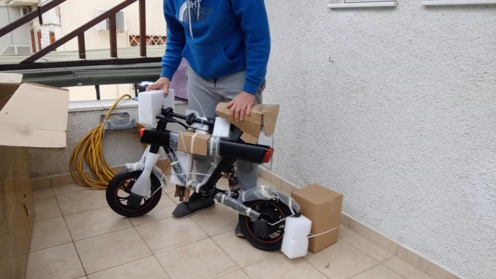DYU V1 Electric Bike unboxing video