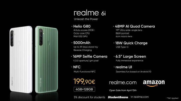 Realme 6 Realme 6i Realme C3 Europe Prices