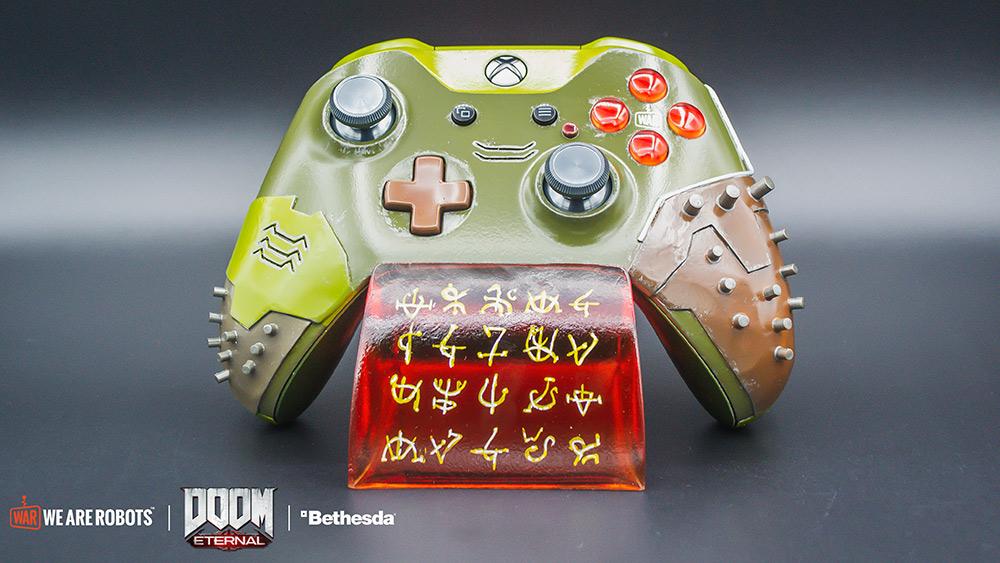 custom DOOM Eternal Xbox One controller