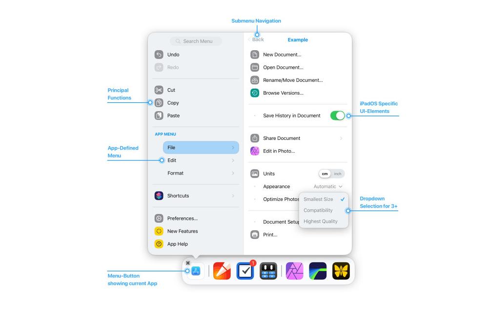 iPadOS Main Menu Concept